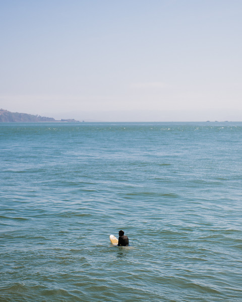 Surfer In Water San Francisco California USA Jacque Manaugh Photography 2019 5:4
