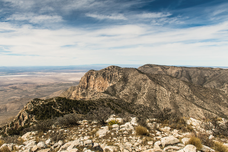 Peak Summit View Guadalupe Mountains National Park Texas