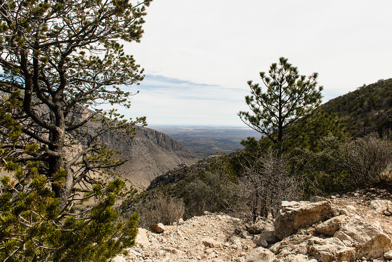 View From The Trail Guadalupe Mountains National Park Texas