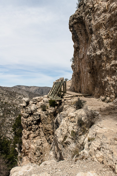 Bridge On The Trail Guadalupe Mountains National Park Texas