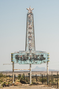 Stardust Motel Sign Marfa Texas