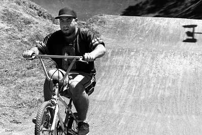 Moodz on a BMX bike