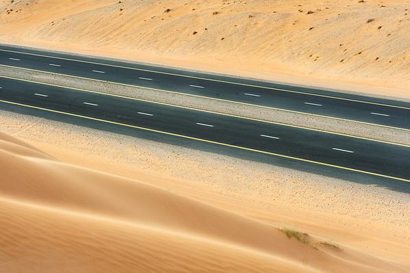 Desert road, UAE