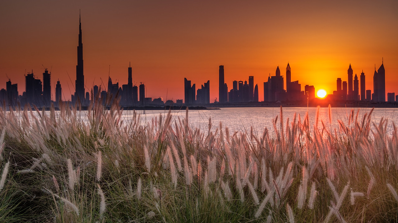 Sunset over Dubai Creek