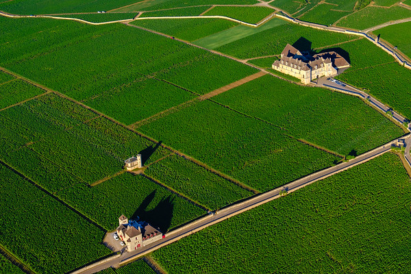 Aerial of Clos de Vougeot