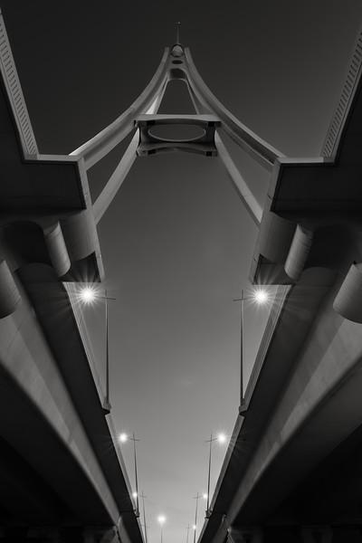 A fine-art look at Business Bay bridge