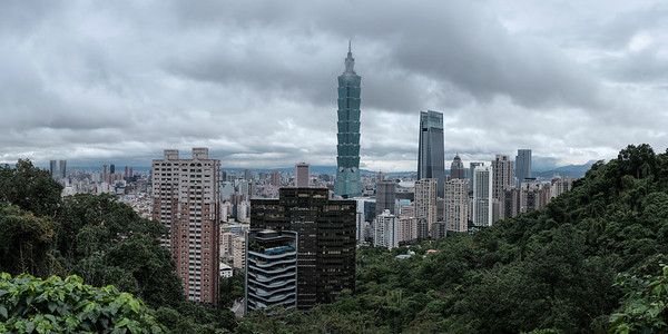 Taipei from Elephant mountain
