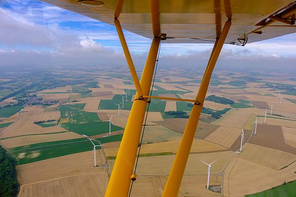 Winddmills in North-Eastern France