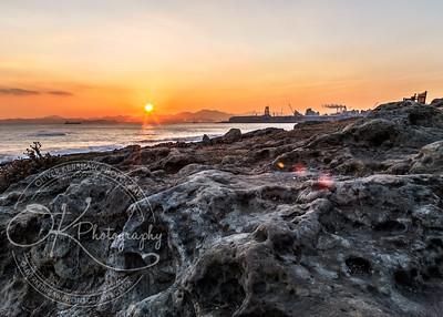 sunset on skull beach