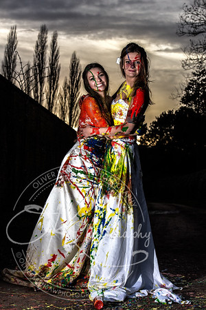 Brides with paint