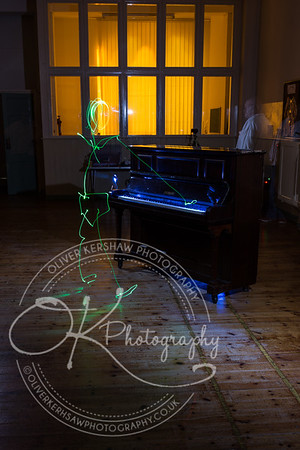 Skeleton playing with piano