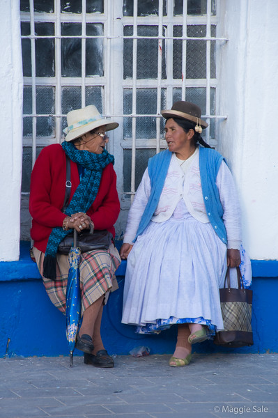 Chatting in Puno square