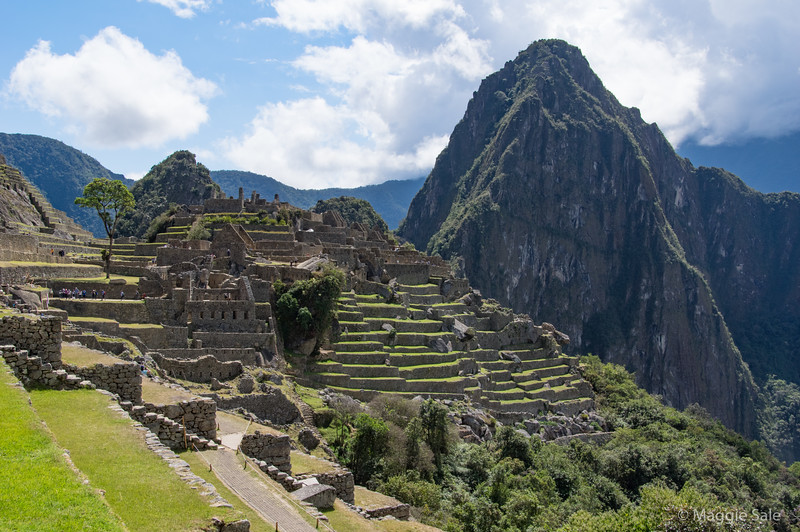 Our first view of the city of Machu Picchu as we entered and listened to our guide.