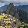 The iconic view of Machu Picchu from the Guard House.