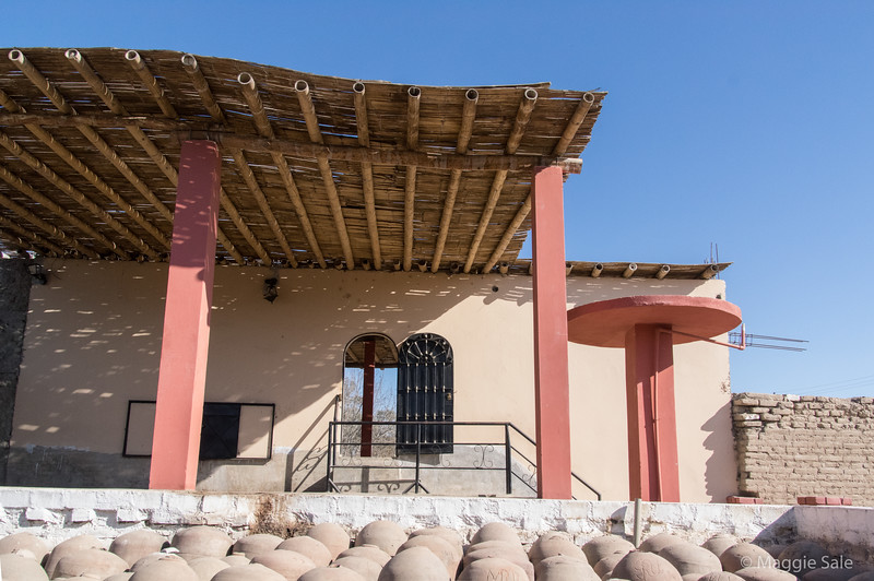 A Peruvian winery where they make Pisco liquor which is the national drink of Peru. They mix Pisco with other ingredients to make Pisco Sour. At this winery they also make sweet dessert type wines and some mixed with other fruits which were quite good! The wine is stored in clay vessels.