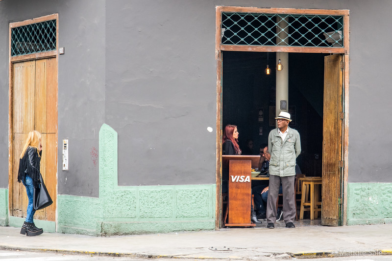 Outside a restaurant in Barranco