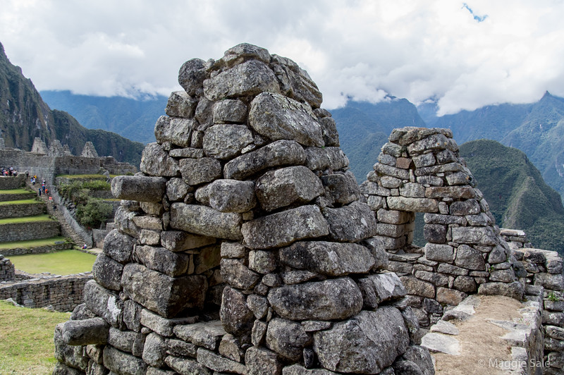 The Inca made the buildings earthquake proof by making all walls slightly convex and putting foundations very deep, followed by an earth layer below the floor to deflect the effect of an earthquake that would come up from very deep in the mountains. They were very advanced for their times!
