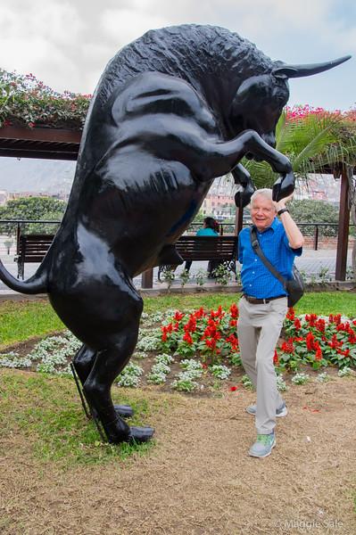 Feeling bullish in downtown Lima!