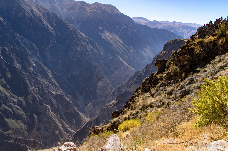 Looking down at the Colca canyon from the road.