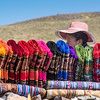 Colourful cloths/blankets at the pass.