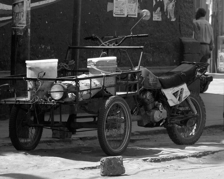 motorcycle cart in Ica, Peru