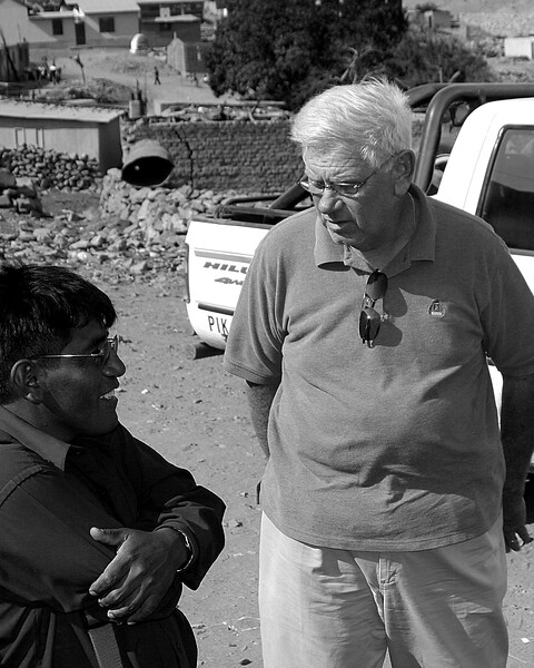 Larry and teacher Huanca, Peru