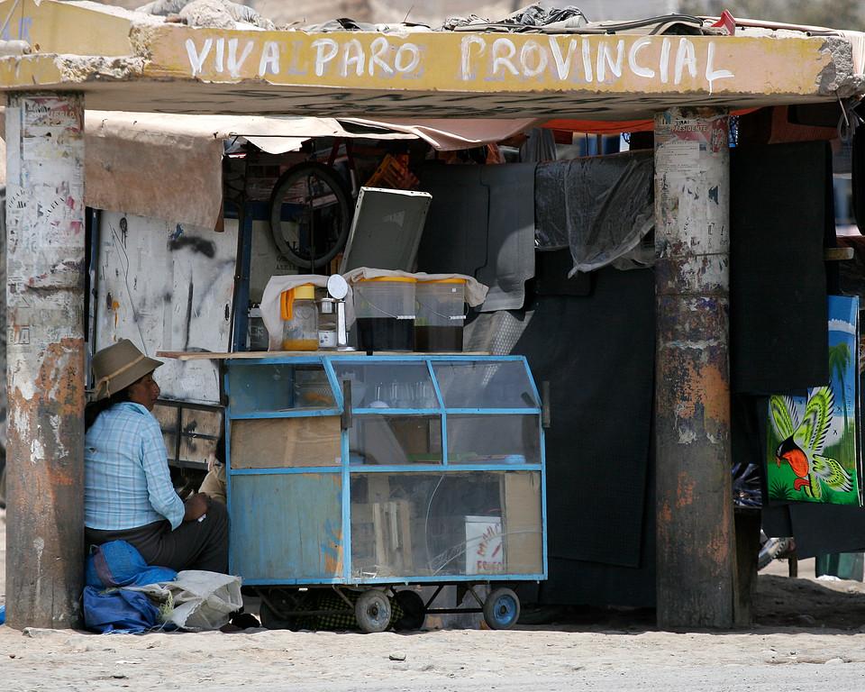 sales stand Nasca, Peru