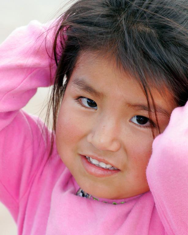Pink Barbie poses Peru