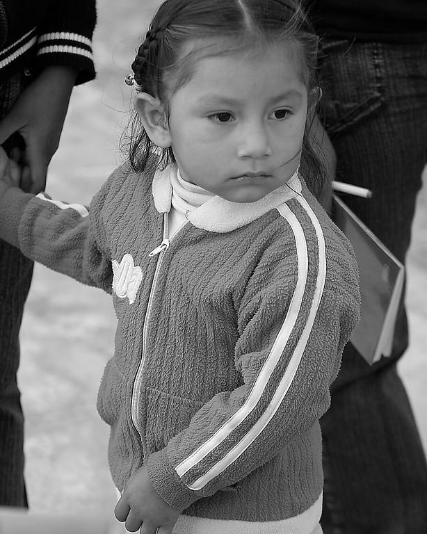 young girl Peru