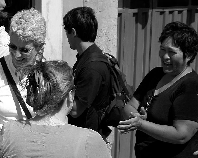Jane, Amanda, Jerry and Maria in Huanca, Peru