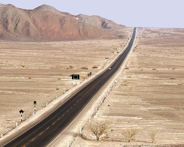 Pan-American Highway through the Nasca Desert Peru