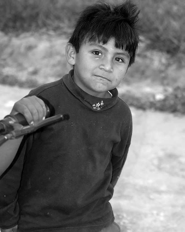 Boy Peru Black and White Photography