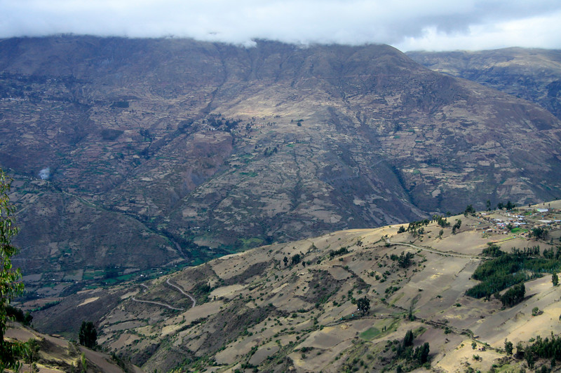 Beyond the cultivated slopes and switchback road - to the Mantaro Valley - Huancavelica department.