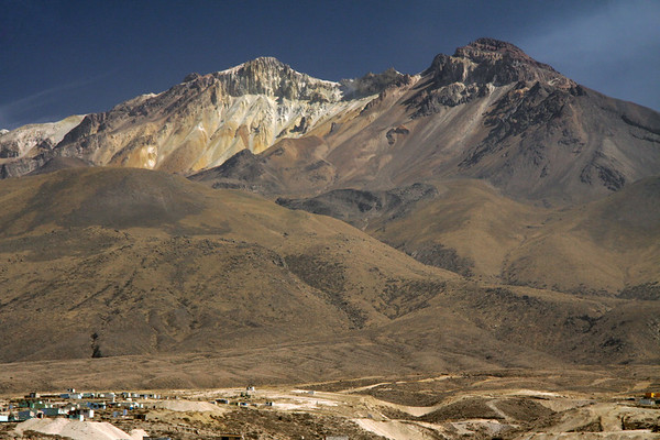 From the dwellings up to the southeastern ridge of Volcan Chachani - Arequipa department - in the Cordillera Volcanica, along the Cordillera Occidental Andes.