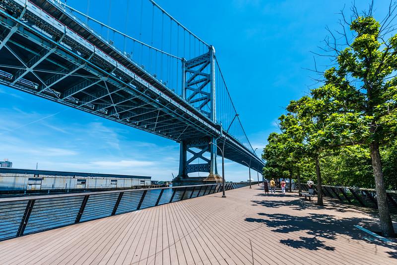 Benjamin Franklin Bridge & Race Street Pier