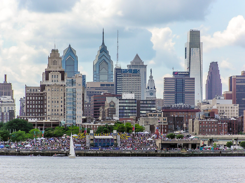 Philadelphia Skyline From Camden
