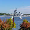 USS Battleship New Jersey in the Fall