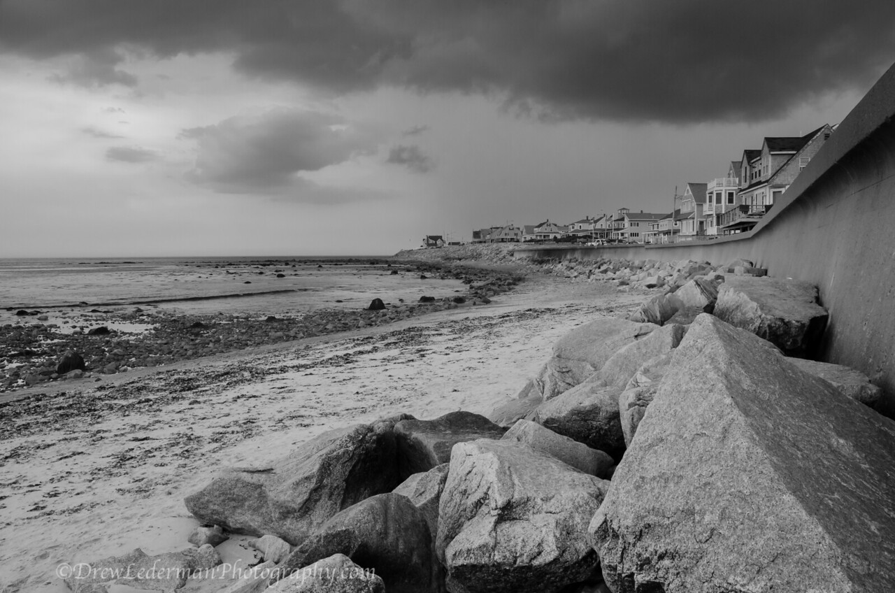 7/7/13<br /> <br /> Took this series for a weekly photo competition I joined. This weeks theme was Black and White Seascapes. <br /> Waited out a pretty intense lightning storm passing over Rexham Beach. Was hoping to get some lightning shots over the water but no luck today.