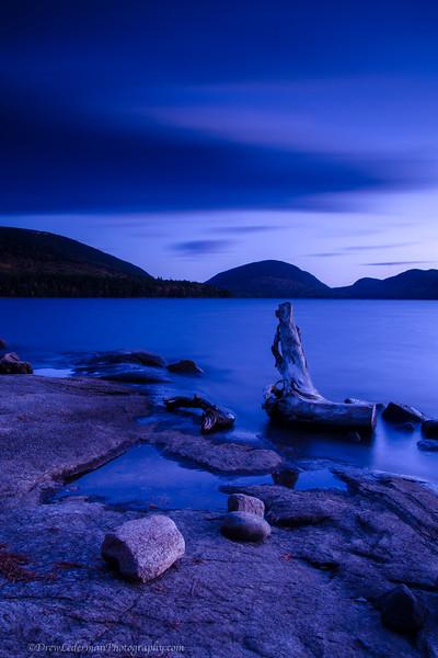 Twilight at Eagle Lake. Acadia N.P.