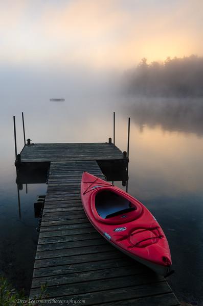 Misty Morning. Georges Pond, ME