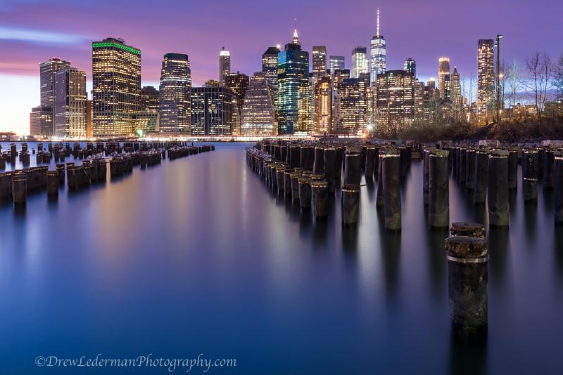 Manhattan sunset.