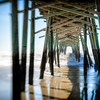 The outer banks of North Carolina is a great place to record images. This pier photograph was taken with a Lensbaby Composer which is a part of a creative lens system which gives the photographer creative control over the area of sharpness in the image.