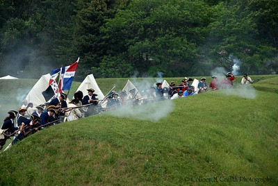 © 2006 Colleen M. Griffith. All Rights Reserved.  This material may not be published, broadcast, rewritten, or modified in any way without permission. Reenactment of the French and Indian War battle at the Old Fort Niagara, NY