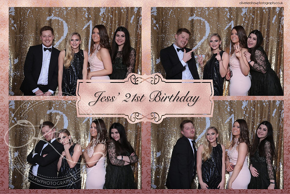 Jess 21 Birthday photo booth