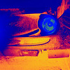 This is a capture of the front of my ride, a Grand Prix GXP after toying around with a THERMAL Treatment in photoshop. Just thought it looked interesting and how the different levels of color came out of a simple photo and reflextions off the paint.