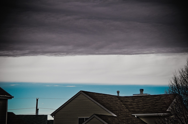 A really weird cloud layer I caught today during a break in the ice storm we've been having