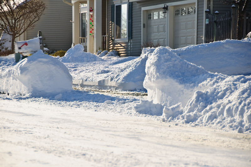 "Here's a good gauge of the recent snow fall, can you say ""Time to DIG Out"""