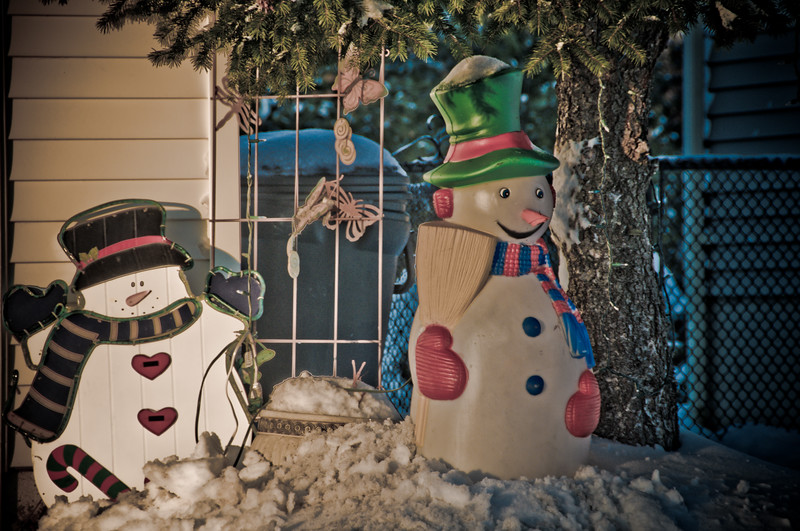 "Christmas Ornaments with the ""Dave Hill' tone mapped look"
