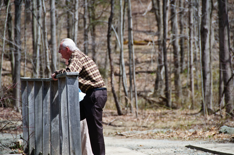 "I captured this gentleman while deep in thought & reminiscing about his childhood. His name is Carl, a gentleman I met while hiking & photographing a beautiful waterfall at Longwood Lake Jefferson Township NJ for my Photo of the Day post on 4-18-09 <a href=""http://billpador.smugmug.com/gallery/7835220_e3BEc/1/515098851_dtEw7"">CLICK HERE TO VIEW</a>. Carl grew up in this area and told me about the history of 'Longwood Lake' which actually was an IRON ORE mine back in the late 1800's Early 1900's until Thomas Jefferson dug too deep and struck water which flooded the area. His home was 100' from where this shot was taken but is nothing more then trees, brush and over grown weeds now. I have over 200 images from this shoot which will be placed in a gallery with all the history Carl taught me about the area and full descriptions of what you will be looking at.   I will post a link to the gallery once it's complete and I research a little more about the area for your viewing pleasure. Thanks to Carl for all the wonderful information & sharing his childhood stories with me !  ~Bill~ 4/18/09"