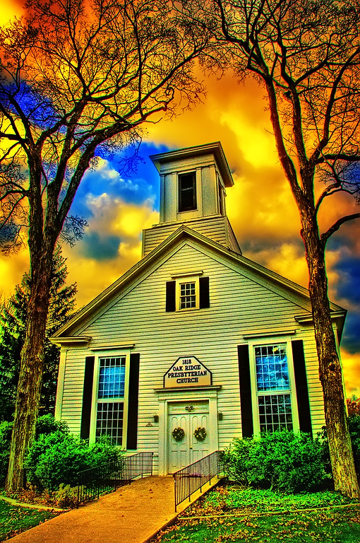 This Old Church image was processed & tone mapped as a single frame HDR for maximum color & textures to give it a bold statement